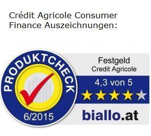 Credit Agricole Auszeichnung