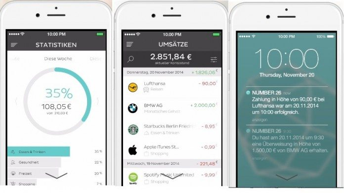 Mobile-Banking bei Number26