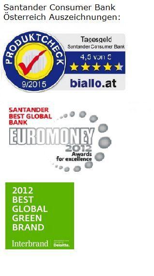 Santander Consumer Bank Auszeichnungen