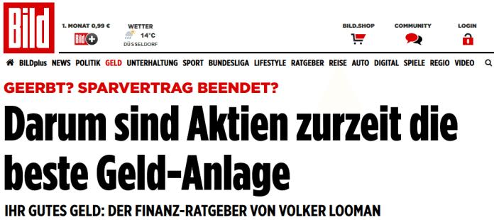 Achtung Bild Zeitung Empfiehlt Aktien Zu Kaufen Sofort Verkaufen