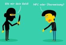 Bargeldverbot Comic: Überfall - NFC oder Überweisung?