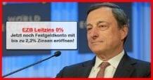 EZB Leitzins Senkung 0 Prozent