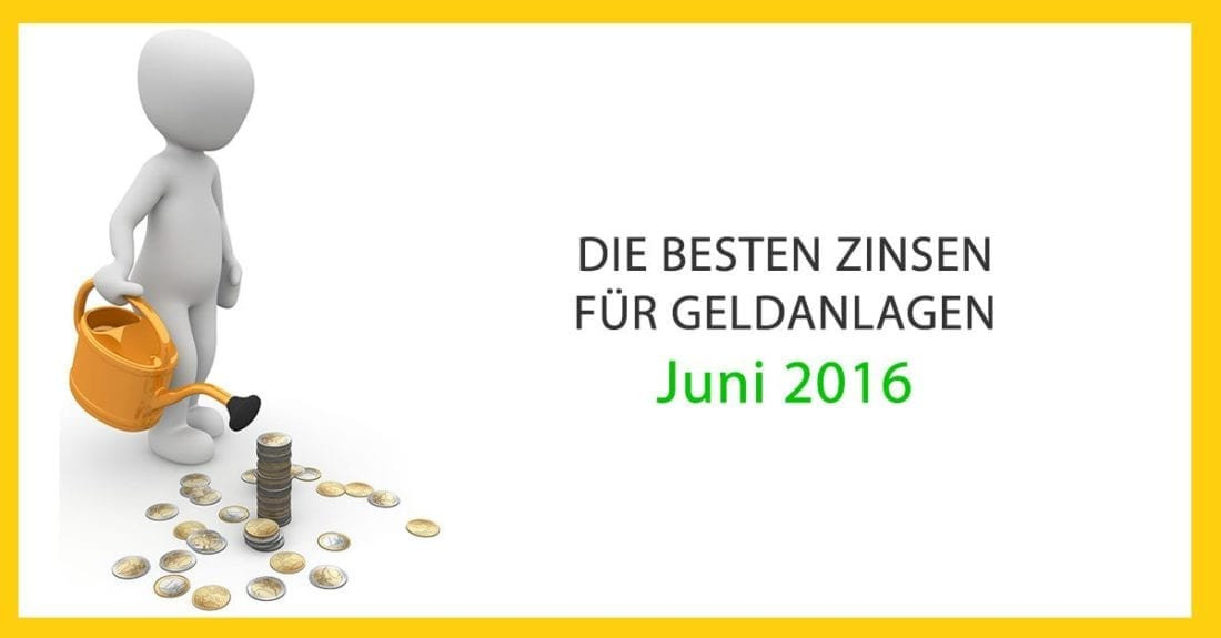 Die Besten Zinsen für Geldanlagen im Juni 2016 in Österreich