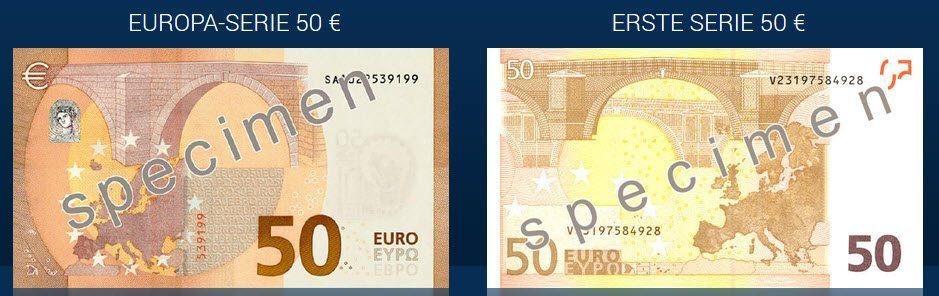 Alle Infos Zum Neuen 50 Euro Geldschein Online Zinsenvergleich