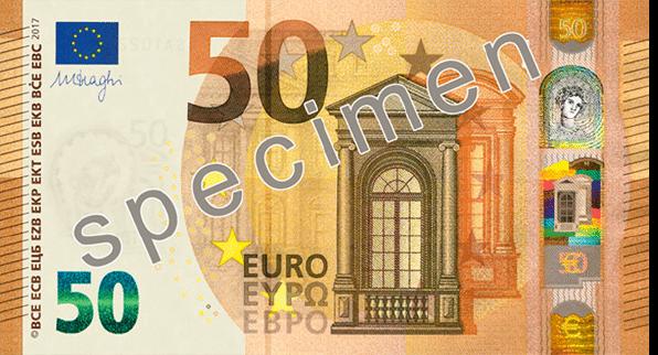 neue 50 Euro Banknote Vorderseite