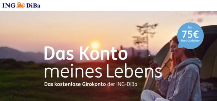 Gratis Konto Der Ing Diba österreich 75 Euro Startbonus Kostenlose
