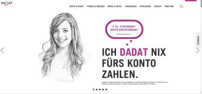 Dadat Bank Österreich - Online Direktbank