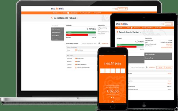Online Banking dank Mobile-App auf allen Geräten einfach und schnell möglich