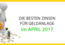 Die besten Sparzinsen in Österreich im April 2017 im Vergleich