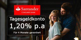 1,20% p.a. auf Tagesgeld bei der Santander Bank Österreich