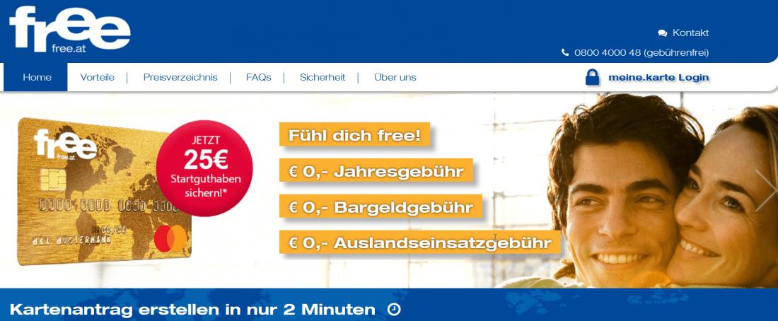 Free Mastercard Österreich 25 Euro Bonus Startguthaben