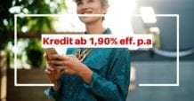 ING-DiBa Kredit ab 1,90% p.a. effektif für 12 Monate - Aktion August 2018