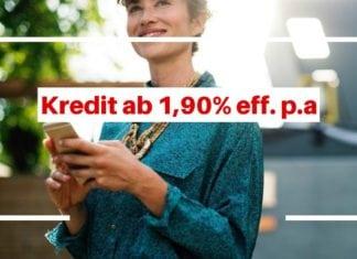 ING-DiBa Kredit ab 1,90% p.a. effektif für 12 Monate - Aktion August 2018