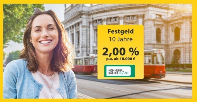 Kommunalkredit Invest - Festgeld auf 10 Jahre