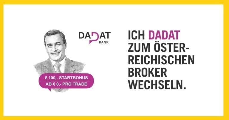 DADAT Depotkonto Startbonus 100 Euro