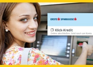 Erste Bank und Sparkasse Klick-Kredit mit Fixzins um 4 Prozent eff. p.a. online abschließen
