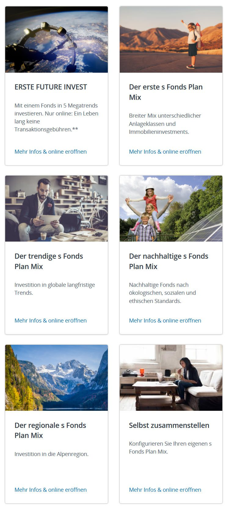S Fonds Spar Mix der ERSTE BANK Österreich - Fondssparen mit Fondssparplan
