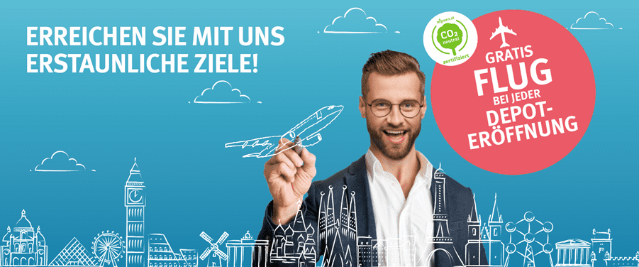 Hello Bank Depot Österreich Freiflug - Gratis Flug bei Depoteröffnung