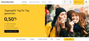 Die Renault Bank Direkt aus Frankreich bietet ein Tagesgeldkonto in Österreich mit dem gleichen Service, KESt. Abfuhr, etc. wie eine österreichische Bank