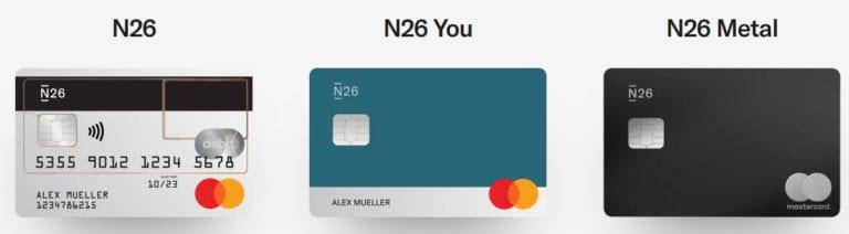 N26 Konten im Vergleich für Österreich