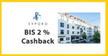 Exporo Immobilien Investments - Cashback 2 Prozent