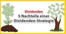 5 Nachteile einer Dividenden-Strategie - Darum sind Dividenden-Aktien & Dividenden-ETFs teuer