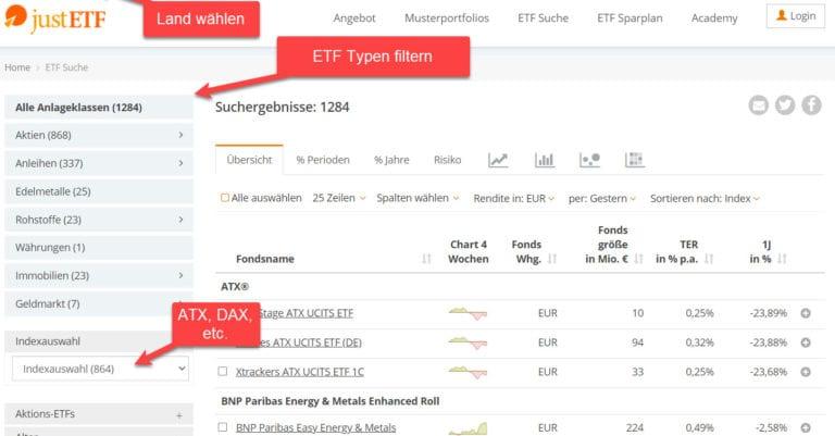 Suchmaschine für ETF - JustETF - ETFs suchen & finden