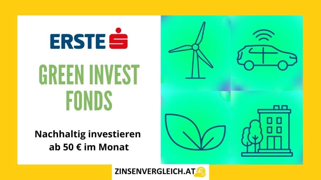 Nachhaltig investieren in Österreich mit dem GREEN INVEST Fonds der ERSTE Bank & Sparkassen