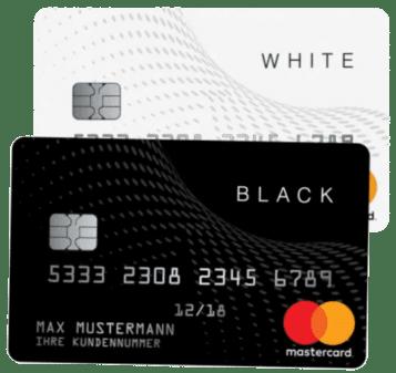 Black & White Prepaid Mastercard für Österreich