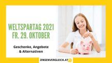 Weltspartag 2021 in Österreich