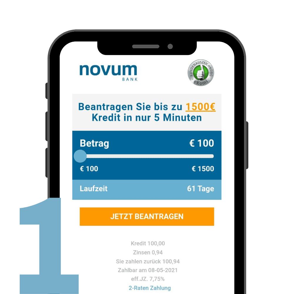 Novum Bank Kreditanleitung 1
