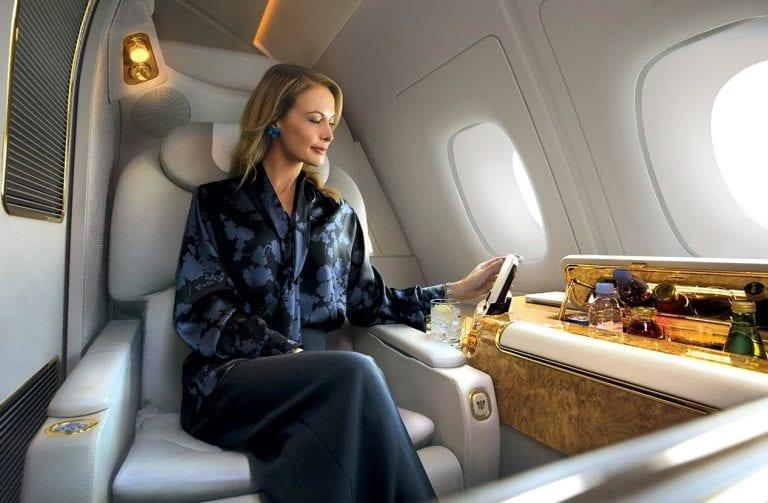 Wie wäre es mit einem First-Class-Upgrade für Ihren nächsten Flug (Bild Emirates)