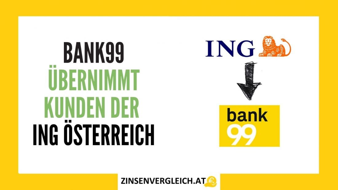 bank99 übernimmt Kunden der ING Österreich
