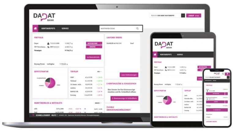 Oberfläche des DADAT Depot für Desktop & mobile